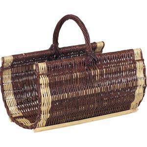 Photo PBU1070 : Willow log basket with handle