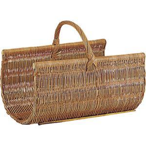 Photo PBU1160 : Buff willow log basket with handle