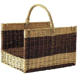 Photo PBU1280 : Willow log basket with handle