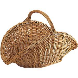 Photo PBU1330 : Buff willow log basket with handle