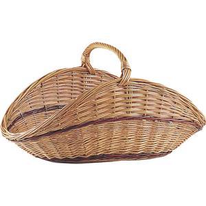 Photo PBU1360 : Buff willow log basket with handle