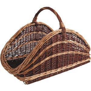 Photo PBU1370 : Willow log basket with handle
