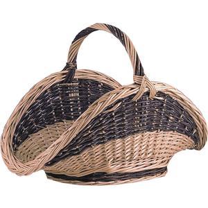 Photo PBU1390 : Willow log basket with handle