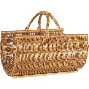 Photo PBU1440 : Buff willow log basket with handle