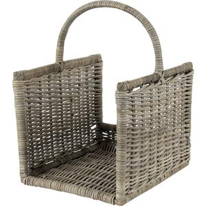 Photo PBU166S : Grey pulut rattan log baskets