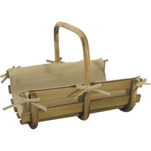 Photo PBU179SJ : Wood and rattan log baskets