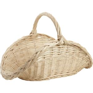 Photo PBU2120 : Panier à bûches en osier blanc