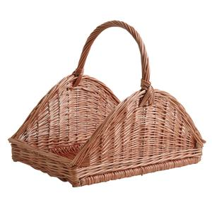 Photo PBU2310 : Panier à bûches en osier buff