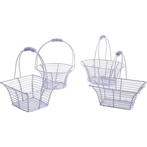 Photo PCF2040 : Lacquered metal basket with movable handle