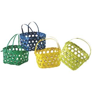 Photo PCF2080 : Mini bamboo basket with handles