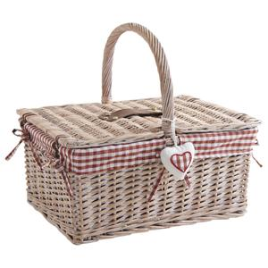 Photo PCO1300C : Stained half willow basket with 2 covers