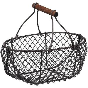Photo PEN1220 : Rusty wire basket with handle