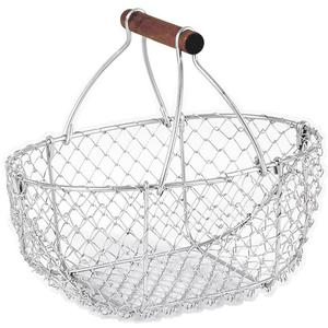 Photo PEN1260 : Silver finish wire basket with handle
