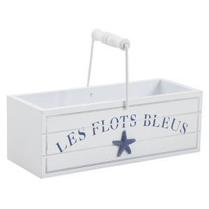 Photo PFA1380 : Panier en bois Les Flots Bleus