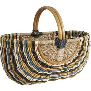 Photo PMA451S : Rattan and seagrass baskets with handle