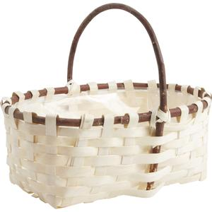 Photo PMA4830 : Wooden basket with handle