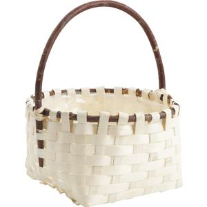 Photo PMA4840 : Wooden basket with handle