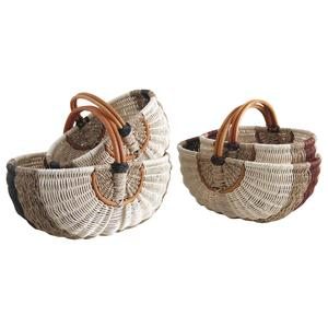 Photo PMA503S : Rattan and seagrass baskets with handle