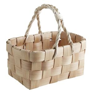 Photo PMA5070 : Panier en bois naturel