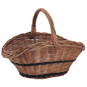 Photo PMA5120 : Buff willow basket with handle