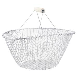 Photo PME1250 : Silver metal basket with handle