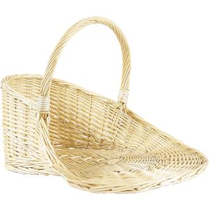 Photo PPR1090 : White willow display basket with handle