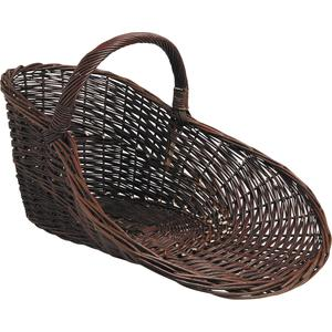 Photo PPR1210 : Unpeeled willow display basket with handle