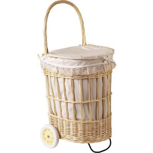 Photo PRO1250C : Willow laundry basket with wheels