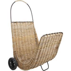 Photo PRO1690 : Chariot à bûches en poelet et métal
