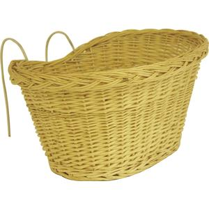 Photo PVE1120 : White willow bike basket