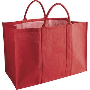 Photo SBU1050 : Sac à bûches en jute rouge