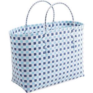 Photo SCA1430 : Cabas en plastique bleu