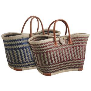 Photo SMA3790 : Colored rush and raffia shopping bag