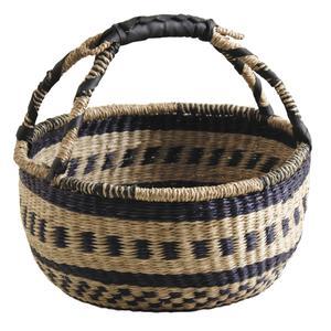 Photo SMA3840 : Stained rush bolga basket