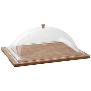Photo TCL1390 : Rectangular bamboo tray with cover