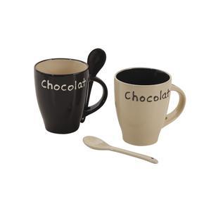 Photo TDI1780V : Mug en grès Chocolat