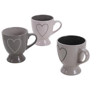 Photo TDI1790V : Tasse à café en grès Coeur