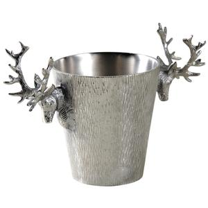Photo TDI2030 : Seau à champagne cerf en aluminium