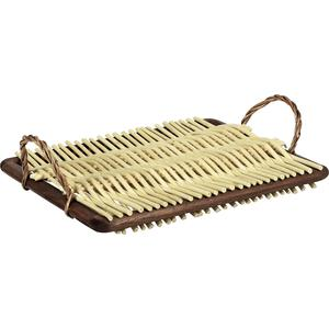 Photo TPF1530 : Wood and white willow cheese tray
