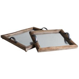 Photo TPL303S : Plateaux en bois et zinc