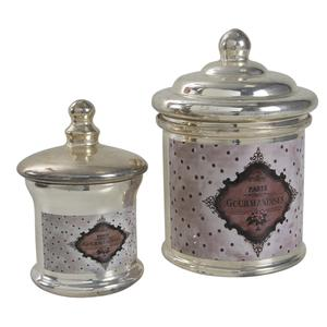 Photo TPO131SV : Boites rondes en verre antique