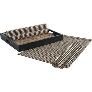 Photo TST159S : Set of 6 bamboo placemats with 1 tray