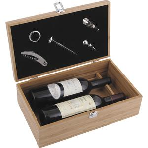 Photo VBO1840 : Bamboo wine box with 5 accessories