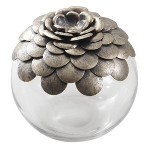 Photo VBT2730V : Coffre Pomme de pin en verre et métal