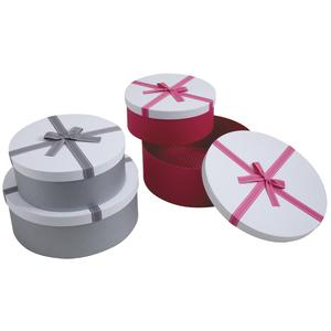 Photo VBT281S : Round cardboard gift boxes with knot
