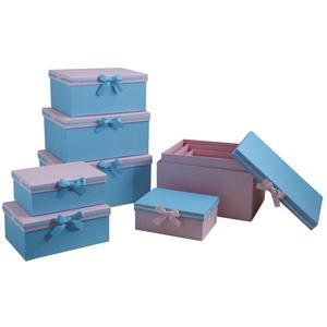Photo VBT284S : Boites cadeaux roses et bleues