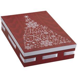 Photo VBT2852 : Boite de Noël rectangulaire en carton