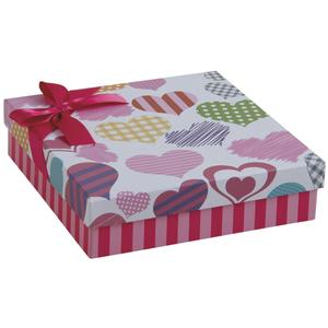 Photo VBT2910 : Cardboard gift box with hearts