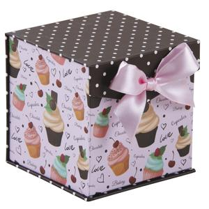 Photo VCF1650 : Cardboard gift box with pink bow