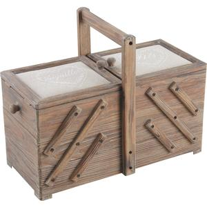 Photo VCT1310 : Stained wood sewing box